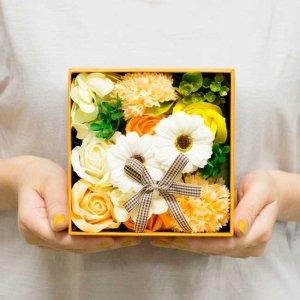 【お花の入浴剤バスフレグランスソープ】ボックスアレンジ