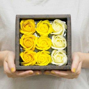 【お花の入浴剤バスフレグランスソープ】ローズボックス