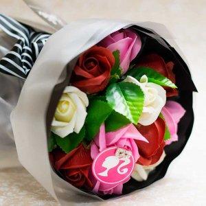 【お花の入浴剤バスフレグランスソープ】バービーローズブーケ[size L]