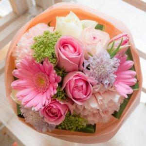 【メッセージフラワー】生花 誕生日花束BQ006