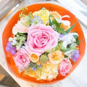 【誕生日のメッセージフラワー】生花 花束BQ008