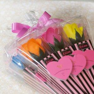 【お花の入浴剤バスフレグランスソープ】バービーケリーブーケ7本set-おまとめラッピング