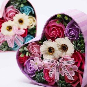 【お花の入浴剤バスフレグランスソープ】ハートボックス