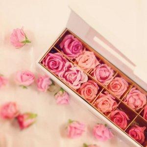 【バラ風呂】Dozen Rose Bath-Pink gradation-
