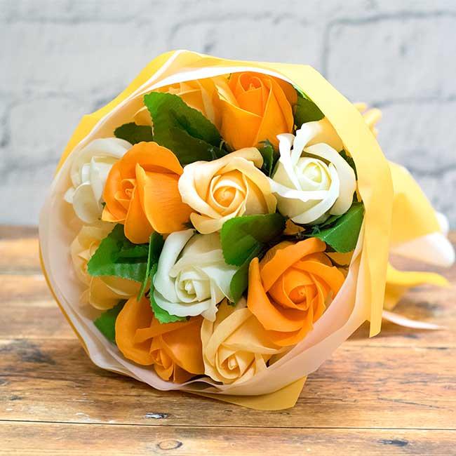 【お花の入浴剤バスフレグランスソープ】Bouquet Rose-PINK-