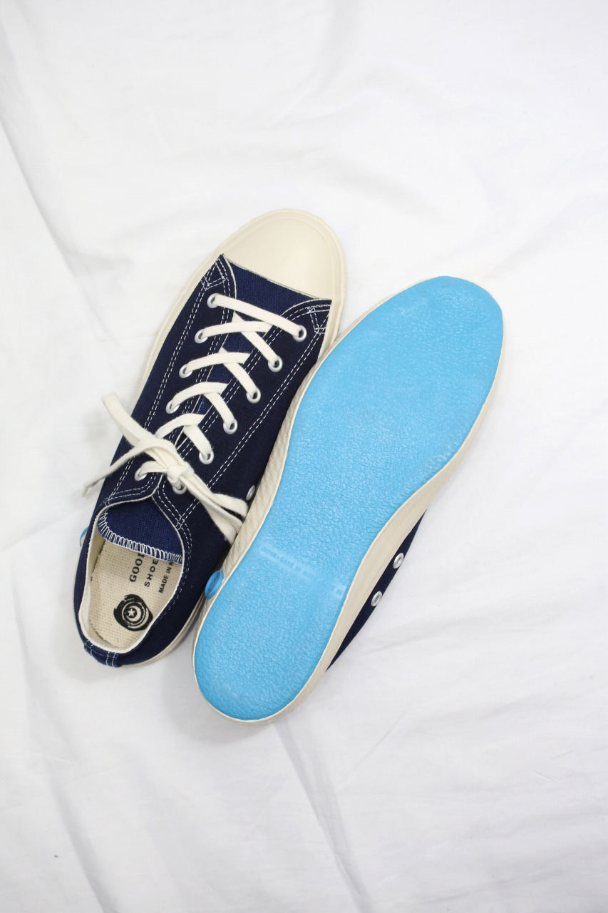 SHOES LIKE POTTERY シューズライクポタリー LOW ローカット MID NAVY 藍染