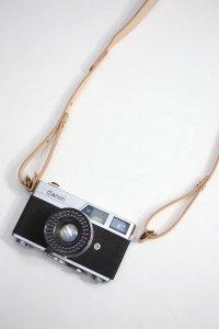 Brown Brown - レザーカメラストラップ