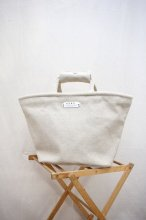 R&D.M.Co- - LINEN CANVAS MARCHE BAG (Small)