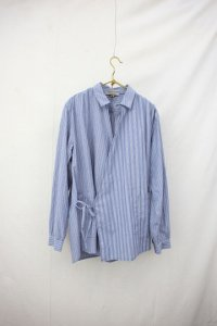 Vlas Blomme - Cotton Stripe カシュクールシャツ (Mens/Ladies)