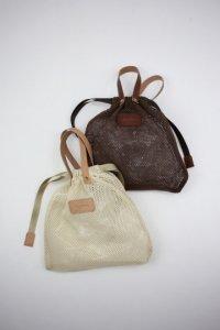 Brown Brown -メッシュ巾着バッグ