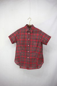 R&D.M.co- - Cotton Silk TARTAN CHECK HALF SLEEVE SHIRT(Ladies)