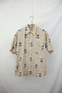 R&D.M.co- - NURSERY PRINT HALF SLEEVE SHIRT(Ladies)