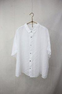 prit - ラミー 5分袖レギュラーカラービッグシャツ(Ladies)