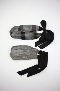 Vlas Blomme - Silk Linen チェック/千鳥格子 リボンカチューム(Ladies)