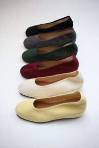 sokonowa - Embroidered Flat Shoes|hand-dyed(Ladies)
