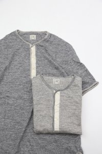 LOOP&WEFT - EDGE PIPING CLASSIC HENLEY(Unisex)