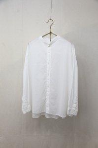 prit - 80/1ローン 長袖スタンドカラーAラインワイドシャツ(Ladies)