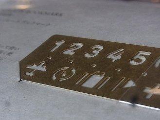 BRASS - ブラス テンプレート ブックマーク(数字)