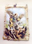 巻物風聖ミカエル 壁掛けプレートタイプ