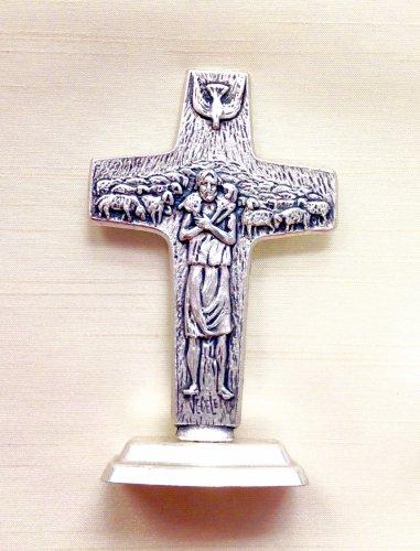 イタリア製 台付き十字架 よき牧者