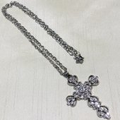 ハート十字架 ネックレス  シルバー