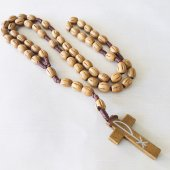 木製 十字架ロザリオ