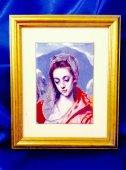 陶版画★エル・グレコ作【聖家族と聖アンナ】から聖マリア