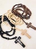 《選べる3カラー》木製 十字架ロザリオ
