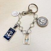 《1点もの!》オリジナルバッグチャーム☆ ベネディクト十字架メダルメダイ、百合、不思議のメダイ