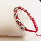 紐編みブレスレット(赤)