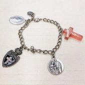 《1点もの!》オリジナルバッグチャーム☆十字架、聖家族メダイ、ジェードのクロス、不思議のメダイ