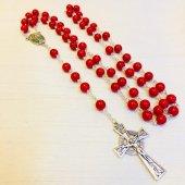 十字架ロザリオ レッドカラー