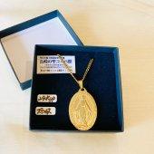 聖母マリア メダイネックレス/ゴールド