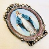 聖母マリア アンティーク 丸型 額装