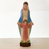 聖母子マリア像(30cm:カラー仕上げ)