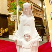 聖母子像(30cm:白色仕上げ)
