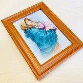 木製 額縁 聖母子