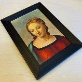 黒 額縁 聖画 ゴールドフィンチのマドンナ