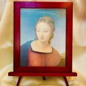 赤 額縁 聖画 ゴールドフィンチのマドンナ