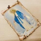 巻物風 聖母マリア 壁掛けプレートタイプ