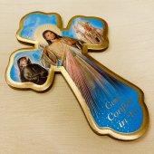木製 キリスト 十字架壁掛けプレートタイプ