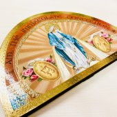 木製 聖母マリア 卓上ご絵