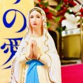 ルルドのマリア 聖像(19cm:カラー仕上げ)