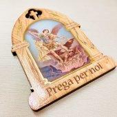 木製 聖ミカエル 卓上ご絵