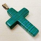 【モーシッシ】天然石 十字架 ネックレストップ