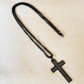 十字架ネックレス ブラック