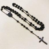 十字架ロザリオ/ブラックカラー