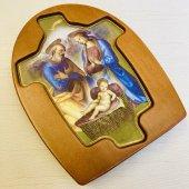 伊)木製 聖家族 卓上名画