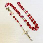 セミクリスタル メダイ付き 十字架ロザリオ