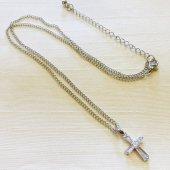 シンプル 十字架ネックレス/シルバーカラー